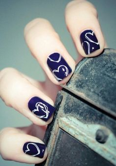 You are currently showing here the awesome result of your 10 DIY Heart Nail Art Designs. You can see here the ideas of 10 DIY Heart Nail Art Designs. Heart Nail Designs, Pretty Nail Designs, Simple Nail Art Designs, Great Nails, Simple Nails, Cute Nails, Trendy Nails, Winter Wedding Nails, Summer Wedding