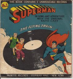 FOR SALE DC Comics SUPERMAN 1947 The Flying Train Record #QualityComicsAmerica