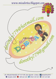 Miss Dorita: Niña con letrero Bienvenidos