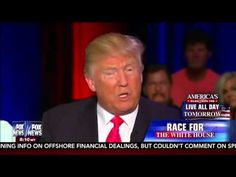 Michelle Fields calls out TRUMP LIE at townhall, and her 'friend' Sean H...