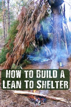 How to Build a Lean To Shelter - You're walking along your favorite trail when all of a sudden, you become lost. A normal day has officially turned into a survival situation. And to make matter's worse, it's getting cold and the sun is going down. In this situation, your first instinct should be to build a survival shelter. But what kind?