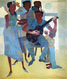 Samba, 1956 Cândido Portinari (Brasil, 1903-1962) óleo sobre tela Pinacoteca do Banco Central do Brasil, Brasília
