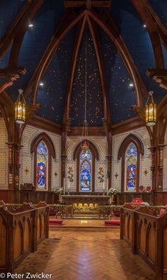 Interior of St. Lunenburg Nova Scotia, Anglican Church, Church Interior, Church Architecture, Prince Edward, St John's, All Over The World, Worship, Taj Mahal