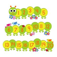 This caterpillar number line wall sticker makes learning your first numbers lots of fun The perfect addition to any babys nursery childs bedroom or… Alphabet Wall Art, Alphabet Writing, Alphabet Stickers, Alphabet For Kids, Wall Stickers, Learning English For Kids, Toddler Learning, Preschool Learning, Preschool Themes
