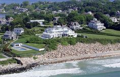 Rhode Island mansion  11,000-square-foot waterfront palace on 5.2 acres in Watch Hill. Creation by Hypnosis.
