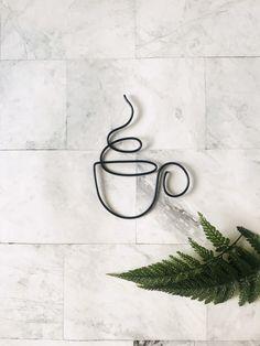 Wire Wall Art, Hanging Wall Art, Wall Art Decor, Hanging Wire, Wire Art Sculpture, Wire Sculptures, Abstract Sculpture, Bronze Sculpture, Coffee Shop