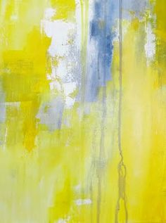 A Yellow Bicycle: Abstract Art - Yellow