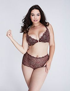 The sexiness of a plunge, the ease of a front close and the metallic lace that's…