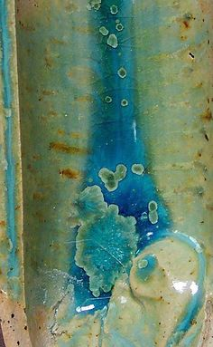 Blue Glaze with Green Crystals ^6 ox.