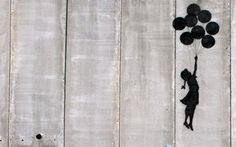 Balloon Girl Flying Banksy Wallpapers