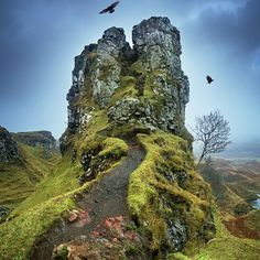 Do you believe in magic? The Fairy Glen. Isle of Skye, Scotland. Photography by Gavin Hardcastle @fototripper