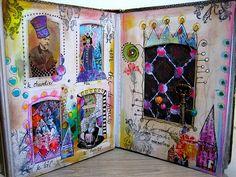Alice + tea party art journal, by Francoise Melzani