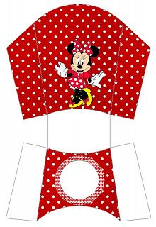 Minnie in red Free Printable Party Boxes.