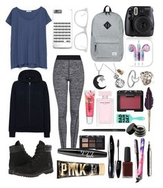 """""""Untitled #7"""" by taflioglu on Polyvore featuring Herschel Supply Co., Jewel Exclusive, Pamela Love, Timberland, Zara, Uniqlo, Topshop, Muse, Maybelline and NYX"""