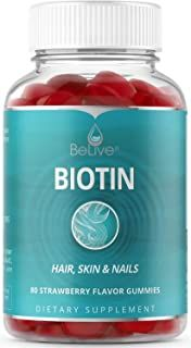 BeLive Biotin Gummies for Hair Growth, Promotes Healthier Hair, Skin & Nail - Best Strength for Women & Men, 80 Count Pixie Cut Color, Cut And Color, Nail Growth Tips, Opi Nail Envy, Biotin Hair, Healthier Hair, Hair Skin Nails, Love Hair, Hair Hacks