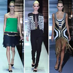 An example of art deco in fashion. Art deco is often characterized by the sleek, geometric lines.