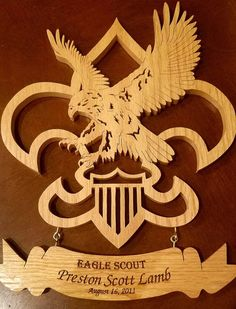 Eagle Scout Award Personalized Court of Honor BSA Boys Girl Scout Swap, Girl Scout Leader, Eagle Scout Gifts, Eagle Scout Ceremony, Christmas Yard Art, Scouts Of America, Scout Activities, Girl Scout Crafts, Wood Carving Patterns