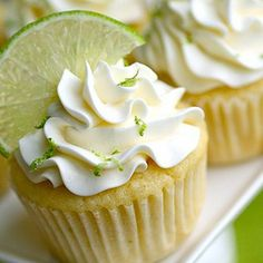 Cupcake with lime