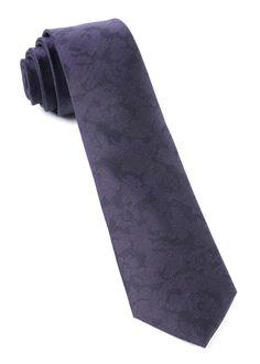 ee1b4024b231 The Tie Bar: Refinado Floral Ties Eggplant 2.5 In. Regular Length - 58 In.