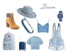 """denim"" by selene-hinteregger ❤ liked on Polyvore featuring Billabong, H&M, Essie, Mojo Moxy, Sea, New York, Nordstrom, Pura Vida, SO & CO, women's clothing and women"