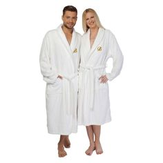 Linum Home 100% Turkish Cotton Unisex Terry Cloth Bathrobe Navy, Size: Small/Medium