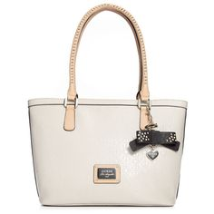 guess purses | Guess Guess Handbag Specks Small Classic Tote in White (Black)