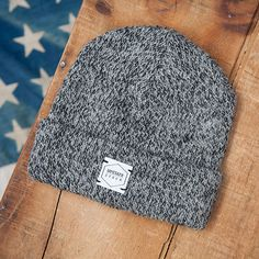 Upstate Stock: Charcoal Melange Ragg Wool Beanie