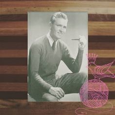 Such a handsome chap - well other than the pipe.      ONLY 99 CENTS! #KEMPTONSLIPOVERKNITTINGPATTERN0067 #KINDLE #AMAZON #PRINCESSOFPATTERNS #KNITTINGPATTERN  #VINTAGE #RETRO #DIY #YARN #WOOL #KNITTING #MEN #SWEATERS #MAN #SWEATER #TOP #CLOTHING #TOPS #PULLOVER #PULLOVERS