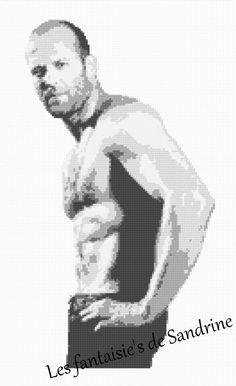 Grille point de croix Jason Statham : Broderie par les-fantaisie-s-de-sandrine