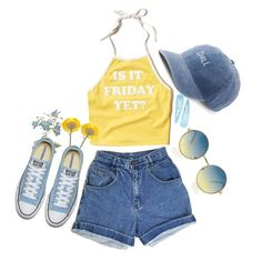 """"""""""" by irishills ❤ liked on Polyvore featuring Hollister Co., SO, croptop, Flowers, converse and jeanshorts"""
