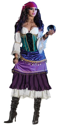 deluxe adult sexy tarot card gypsy costume   Super Deluxe Tarot Card Gypsy Costume - Gypsy Costumes