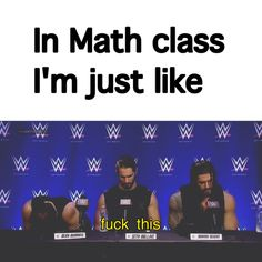 Roman Reigns, Dean Ambrose, and Seth Rollins preferences. How about we all just forget about Seth stabbing Dean and Roman in the back? Wwe Funny, Stupid Funny Memes, Funny Laugh, Funny Relatable Memes, Funny Quotes, Hilarious, Dean Ambrose Seth Rollins, Wwe Dean Ambrose, Dean Ambrose Funny