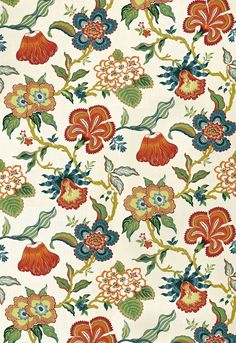 Fabric Patterns F. Schumacher Hothouse Flowers-Spark 174031 Interior Decor Fabric - F. Schumacher Hothouse Flowers Spark 174031 by Celerie Kemble Upholstery Fabric Floral Pillows, Floral Fabric, Fabric Flowers, Green Fabric, Decorative Pillows, Floral Prints, Drapery Fabric, Fabric Decor, Fabric Design