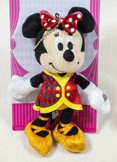 "Disney Minnie Mouse 6"" Plush doll Keycain Mascot Figure Halloween Circus JAPAN"