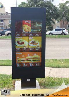 Jollibee Houston TX - Drive Thru Signage, ViewStation QSR by ITSENCLOSURES #ViewStation