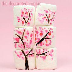 cherry blossom marshmallows