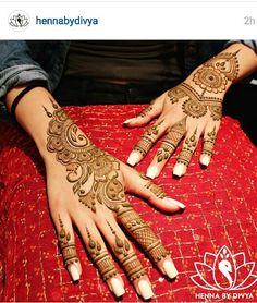 Henna by divya Indian Henna Designs, Unique Mehndi Designs, Beautiful Henna Designs, Beautiful Mehndi, Henna Tattoo Designs, Bridal Mehndi Designs, Mehandi Designs, Henna Tattoos, Hena Designs