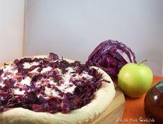 torta salata cavolo cappuccio rosso e mela verde