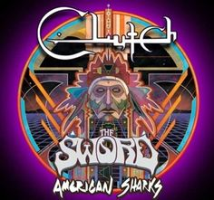 Clutch unleash bludgeoning walls of rock and roll on the Earth Rocker Tour with Orange Goblin and Lionize! Stoner Rock, Concert Flyer, Concert Posters, Scorpion Child, Tour Posters, Band Posters, Music Posters, Metal Albums, Rock And Roll Bands