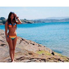 @luciacr07 wearing a #colourful #bikini! #surania #summer #beach #swimwear   www.surania.com