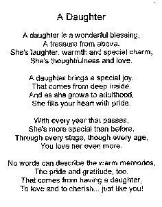a daughter poem - Google Search