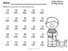math worksheet : two digit addition  subtraction worksheets without regrouping  : Addition And Subtraction Worksheets Without Regrouping