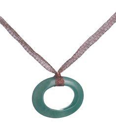 Look at this #zulilyfind! Green Burma Circle Pendant Necklace by Annaleece #zulilyfinds