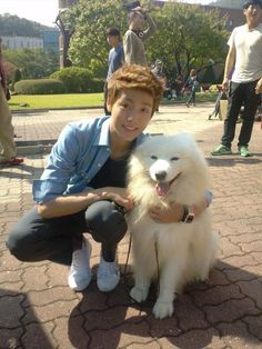 lee hyun woo is cuter than the dog. -to the beautiful you- ❤️ BTW i adore this drama. like really this is my best drama ever ❤️❤️❤️😘😭 Lee Hyun Woo, Lee Hyuk, Boys Over Flowers, Flower Boys, Korean Star, Korean Men, Asian Actors, Korean Actors, Korean Dramas