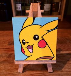Pikachu Mini-Canvas by ToddTheFoxArt on Etsy