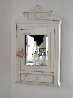 Shabby Chic Spiegelschrank Badezimmer Wohn Design