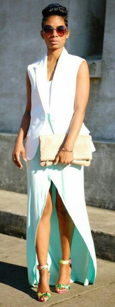 Vest- Express   Skirt- c/o Tobi.com   Shoes- old, Pink Ice   Purse- Express