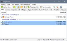 Herramienta simple para configurar la plataforma de filtrado de Windows (WFP) que puede configurar la actividad de la red en su computadora.