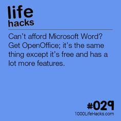 Improve your life one hack at a time. 1000 Life Hacks, DIYs, tips, tricks and More. Start living life to the fullest! College Life Hacks, School Hacks, Simple Life Hacks, Useful Life Hacks, Hack My Life, Life Hacks Websites, Open Office, 1000 Lifehacks, Office Hacks