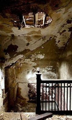 The top floor of the nurses quarters of Riverside Hospital, located on North Brother Island in the East River, which was originally built to quarantine smallpox patients. The infamous Typhoid Mary was confined to the hospital for over two decades.